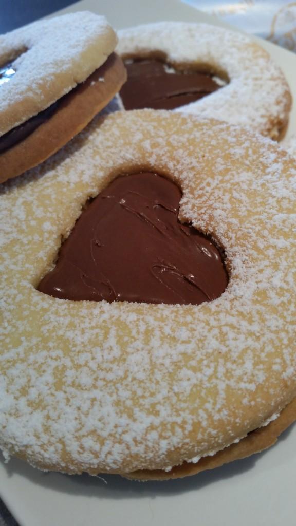 sablé coeur nutella