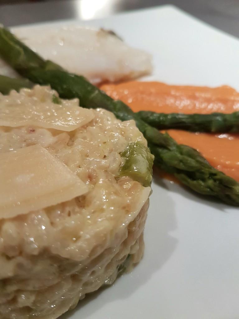 risotto aux asperge et patate douce